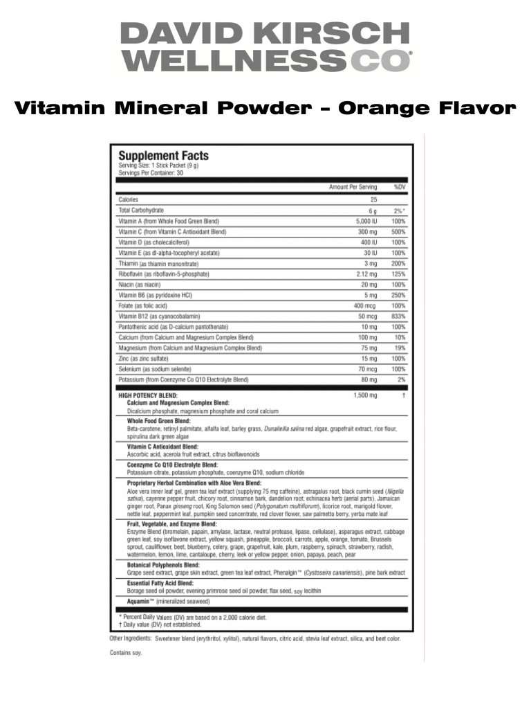 13. Vitamin Mineral Powder