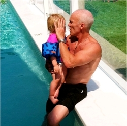 David Kirsch Swimming with Daughter